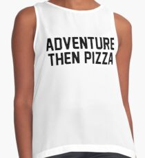 Adventure Then Pizza Contrast Tank