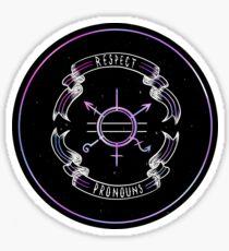 Respect Pronouns - Galaxy  Sticker