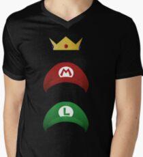 Minimalist Mario hat Mens V-Neck T-Shirt