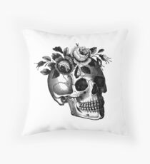 Lana Del Skull Throw Pillow