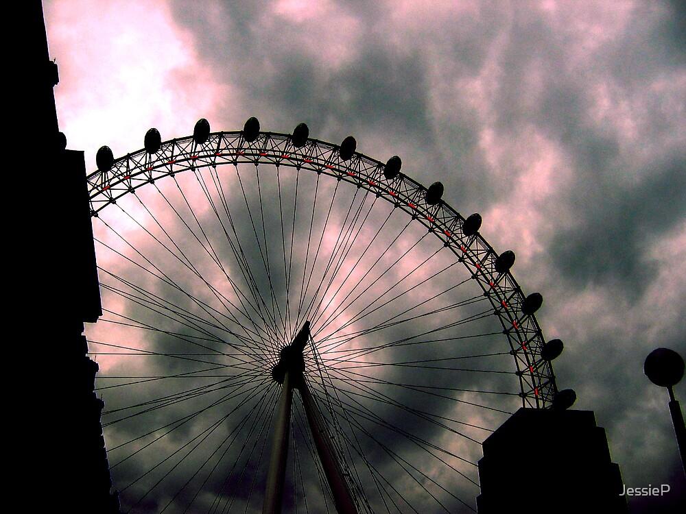 London Eye Sky by JessieP
