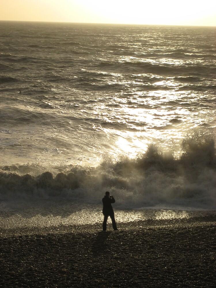 crashing wave at brighton by stuart  sneddon