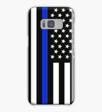 Thin blue line police flag Samsung Galaxy Case/Skin