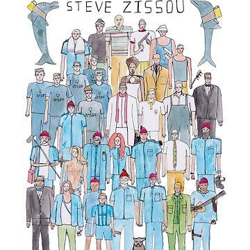 The Life Aquatic with Steve Zissou Team Illustration by defuma