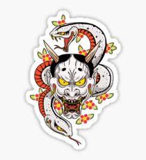 mad dog's hannya Sticker