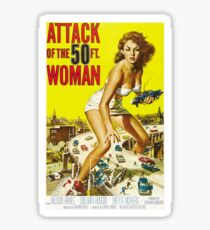 Attack Of The 50-Foot Woman - vintage movie poster Sticker