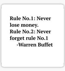 Warren Buffet Sticker