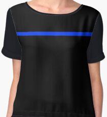 Thin blue line police symbolism Chiffon Top