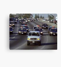 OJ Police Chase Canvas Print