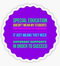 Special Education Teachers Sticker