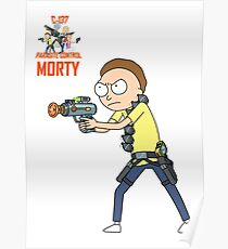Rick and Morty – Morty, Parasite Control Poster