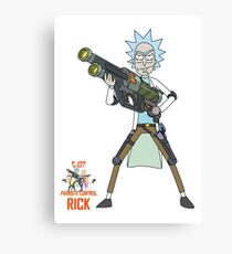 Rick and Morty – Rick, Parasite Control Canvas Print