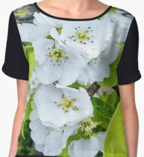 Apple Blossoms After Snow Women's Chiffon Top