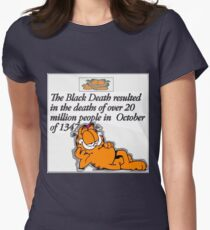 garfield black death comic Womens Fitted T-Shirt