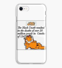 garfield black death comic iPhone Case/Skin