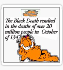 garfield black death comic Sticker