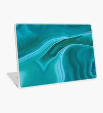 Agate sea green texture Laptop Skin