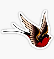 American Traditional Swallow Sticker