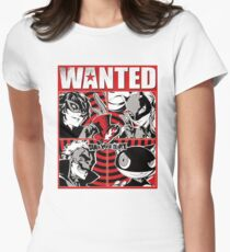 Phantom thief wanted poster Womens Fitted T-Shirt