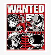 Phantom thief wanted poster Photographic Print