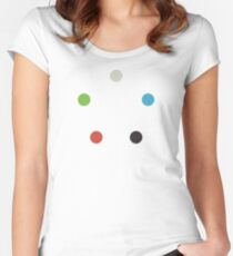Magic The Gathering Colors (minimalist) Women's Fitted Scoop T-Shirt
