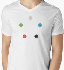Magic The Gathering Colors (minimalist) Men's V-Neck T-Shirt