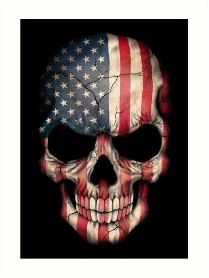 Quot American Flag Skull Quot Art Print By Jeffbartels Redbubble