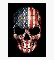 American Flag Skull Photographic Print