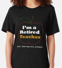 Funny Teacher Retirement T Shirt Gift Novelty Slim Fit T-Shirt