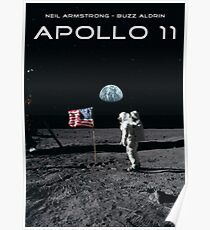 Apollo 11 - Moon & the Earth Poster