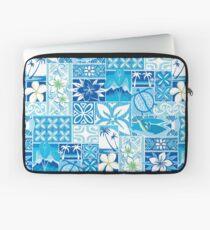 New Hawaiian Motif - blue Laptop Sleeve