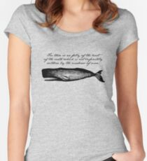 Moby Dick - The Madness of Men Women's Fitted Scoop T-Shirt