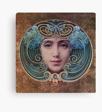 Graceful Vintage French Art Nouveau woman Canvas Print