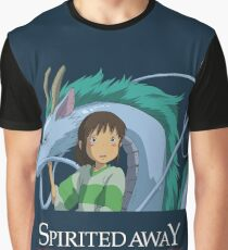 Spirited Away Chihiro and Haku-Studio Ghibli Graphic T-Shirt