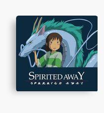 Spirited Away Chihiro and Haku-Studio Ghibli Canvas Print