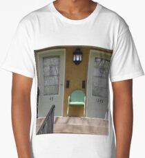 Single Front Yard Chair Between Two Long T-Shirt
