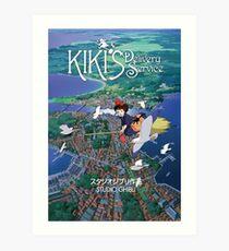 Kiki's Delivery Service-Studio Ghibli Art Print