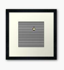 My Neighbor Totoro-Studio Ghibli-Striped Framed Print