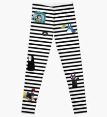 Studio Ghibli-My Neighbor Totoro, Kiki's Delivery Service, and Spirited Away-Striped Leggings