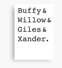 Buffy Canvas Print