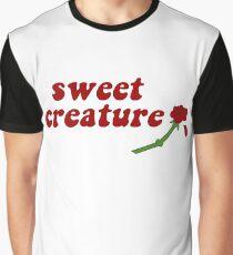Sweet Creature Rose Design Graphic T-Shirt