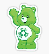 recycle carebear carebears care bear  reduce reuse recycle Sticker