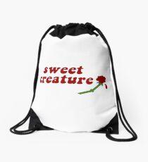 Sweet Creature Rose Design Drawstring Bag