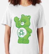 recycle carebear carebears care bear  reduce reuse recycle Slim Fit T-Shirt