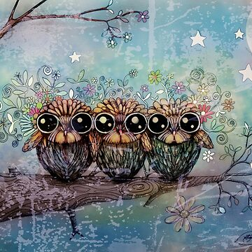 three little night owls by karin