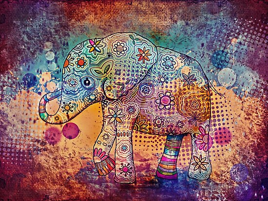 indie elephant by Karin Taylor