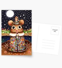 Little Bright Eyes the Radiant Christmas Mouse Postcards