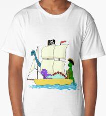Dinosaur pirates sail the seven seas Long T-Shirt