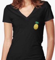 Peenya Women's Fitted V-Neck T-Shirt