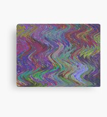 Dull colorful zig zag waves Canvas Print